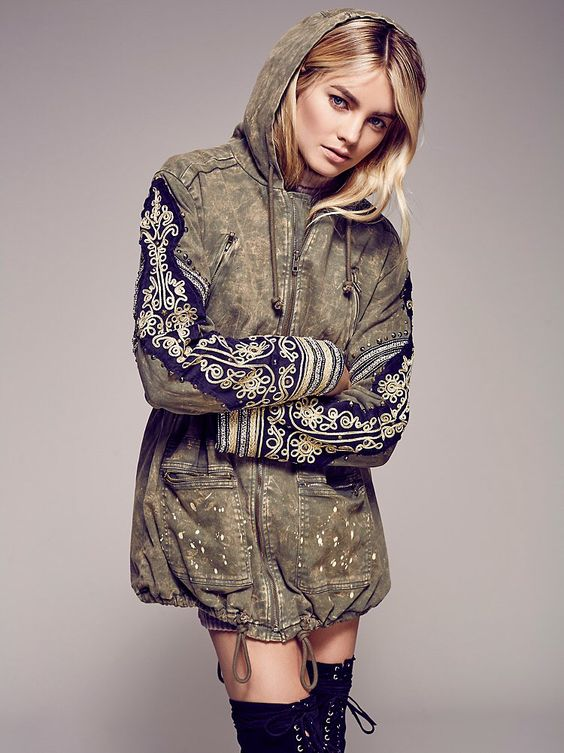 Golden Quills Military Parka from Free People!