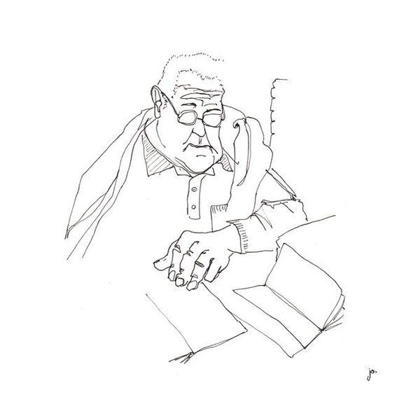 PAPY FAIT SA LECTURE #calmeetserenite #momentenfamille #lecture #bonheur #illustration #drawing #dessin #art