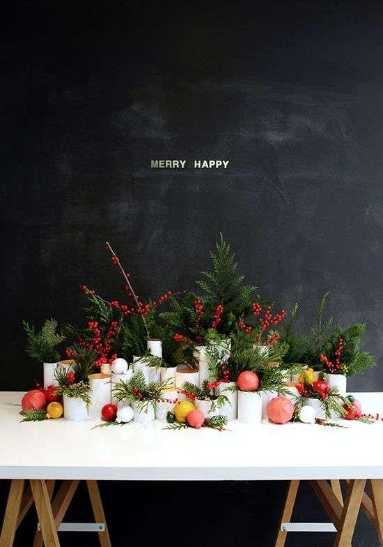 Kerstdecoratie op tafel - Woontrendz #DIY