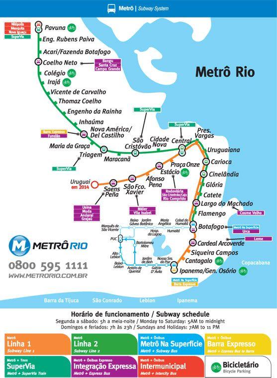 Mapa del metro de Río