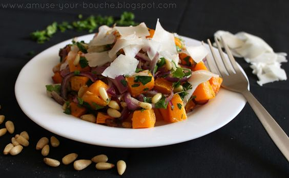butternut squash salad with goat's cheese