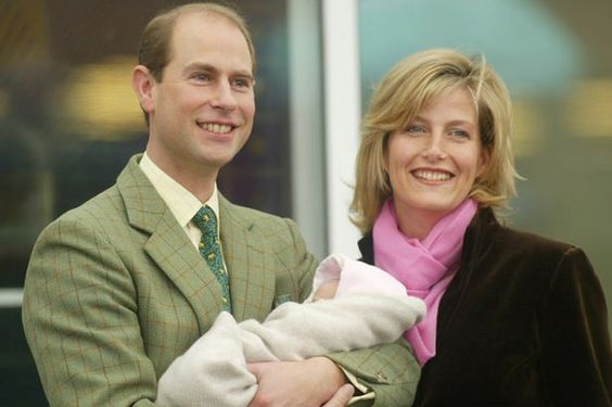 The Earl and Countess of Wessex with Baby Louise, 2003