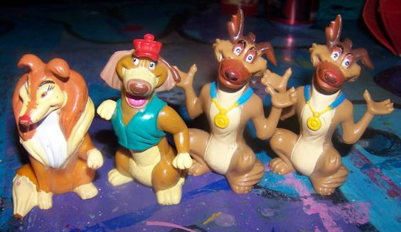 All Dogs Go To Heaven  PVC Figures 1989 Wendys  by OwlCreations1, $11.98