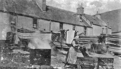 Tour Scotland Photographs: Old Photograph Boiling Whelks Coast Of Fife Scotland