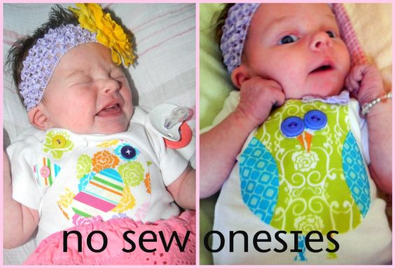 Our Thrifty Ideas: DIY - No sew baby onesie tutorial (great idea for what to applique)