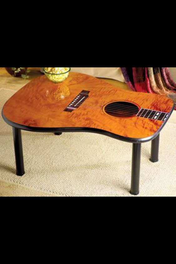 Guitar Table...I know so many musicians who will want one of these! #LiquidGoldSalvagedWood: