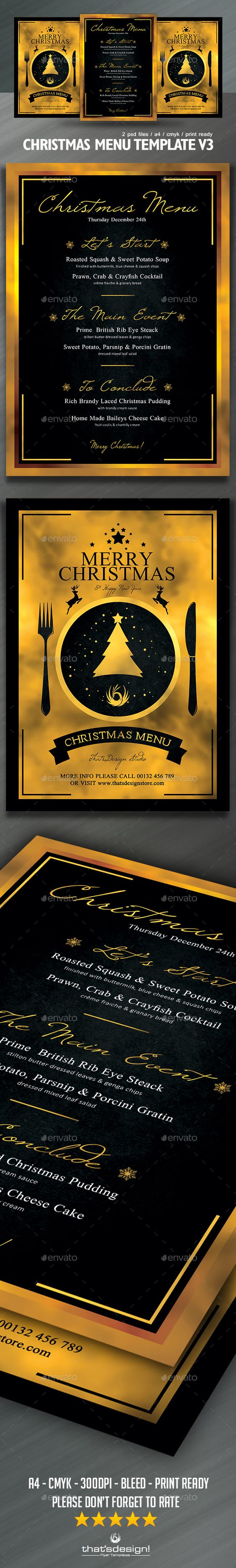 christmas menu template v flyer template restaurant and flyers christmas menu flyer template psd design graphicriver net