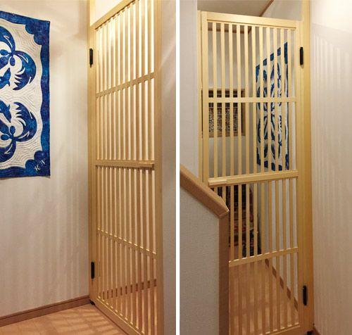 ねこ脱走防止とびら タニハタが製作するネコのためのとびら 住宅設計