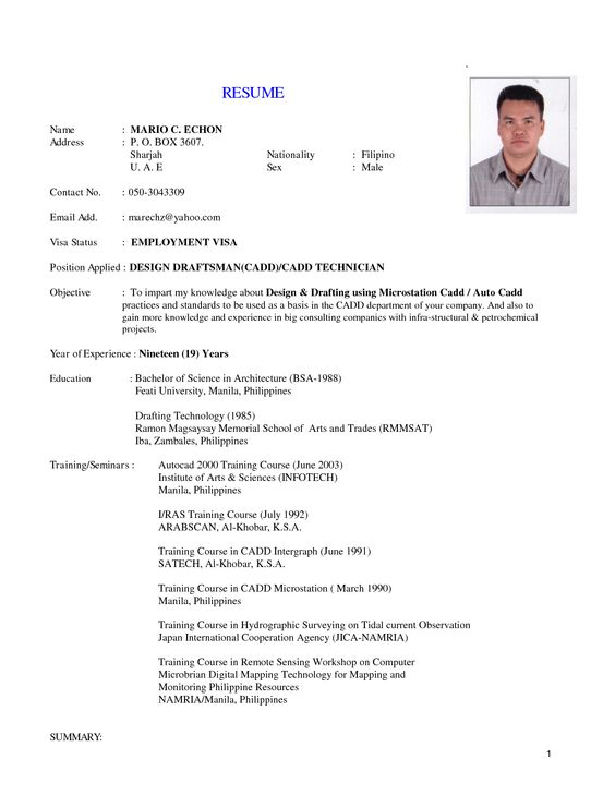 implemented on the job application technician resume sample resume - drafter sample resumes