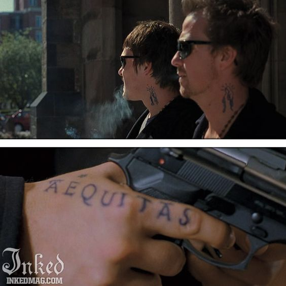The best tattoos in the movies ever pt1 inked magazine for Boondock saints veritas aequitas tattoos
