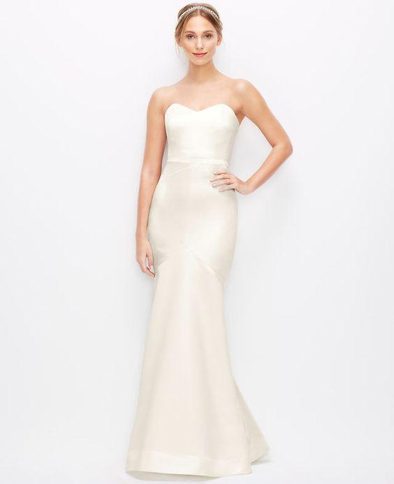 Duchess Satin Strapless Wedding Dress - Satin- Wedding and ...