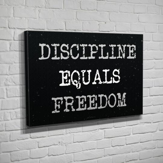 Jocko Good Discipline Freedom Homedecor Art Vinyl Canvas Discipline Equality Freedom