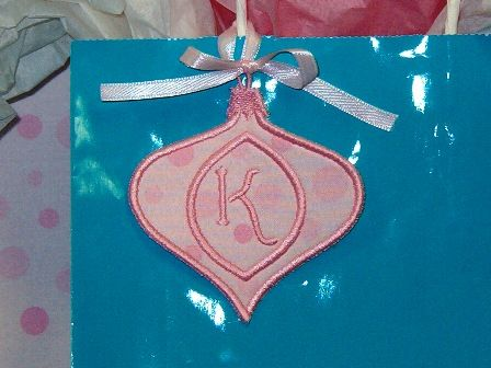 Christmas Ornament Monogram Set+ Gift Tag! by Five Star Fonts