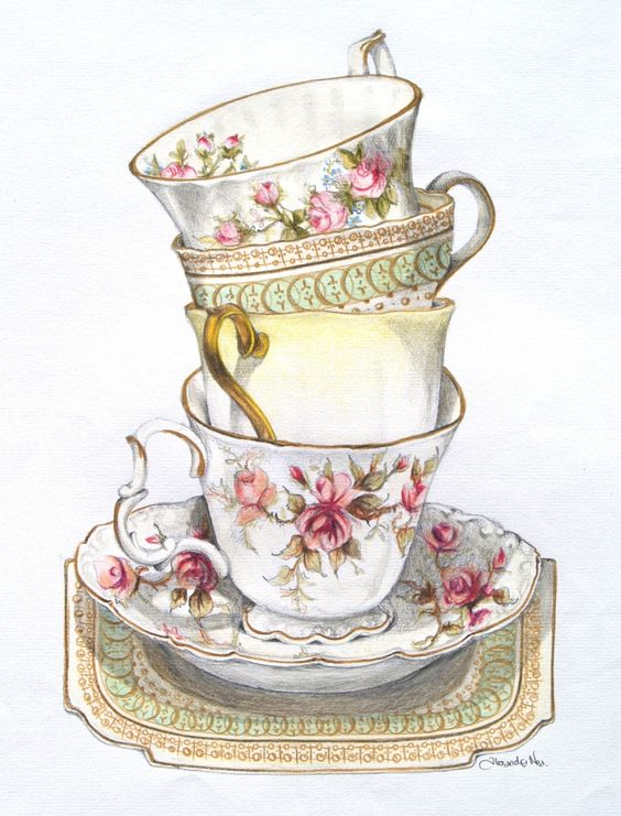 A lovely stack of teacups! | The Art of Afternoon Tea ...