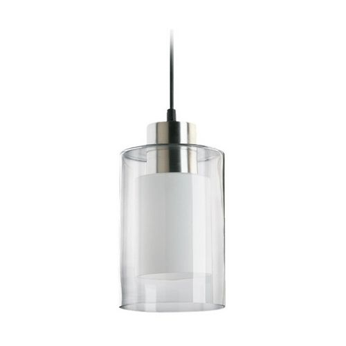 Modern mini pendant light with double cylinder glass shades nice pens and new kitchen - Mini light pendant for kitchen island ...