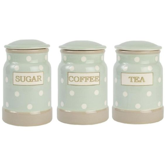 Sugar canister canisters and food storage containers on pinterest - Modern tea and coffee canisters ...