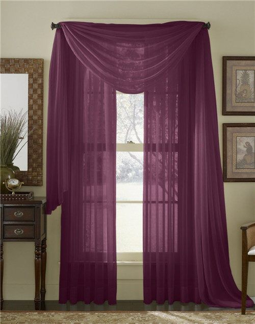 Plum Grommet Voile Sheer Curtains Panel 00_Solid Color Voile Sheer Valance Panels www.pluscurtains.com pluscurtains@gamil.com whatsapp:+ 861506814867