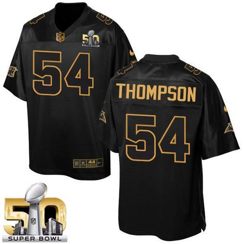 Nike Carolina Panthers #54 Shaq Thompson Black Super Bowl 50 Men's Stitched NFL…