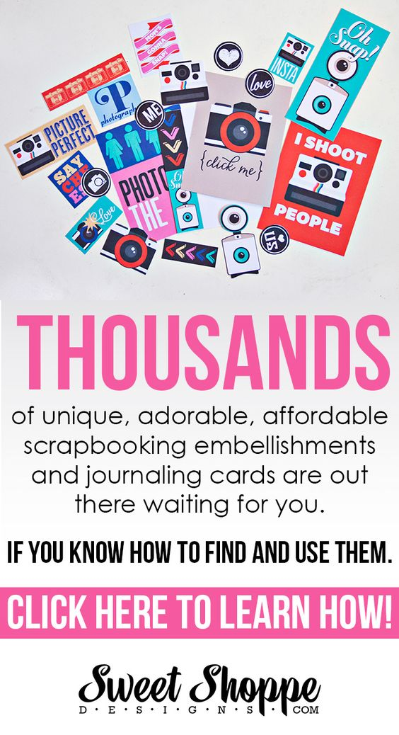 Thousands of printable embellishments for cheap, cheap! Learn how to print them and use them with this tutorial!