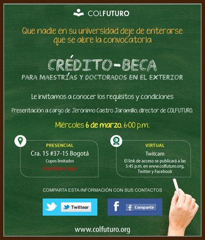 Si eres estudiante universitario, participa ya en el Crédito-Beca de Colfuturo
