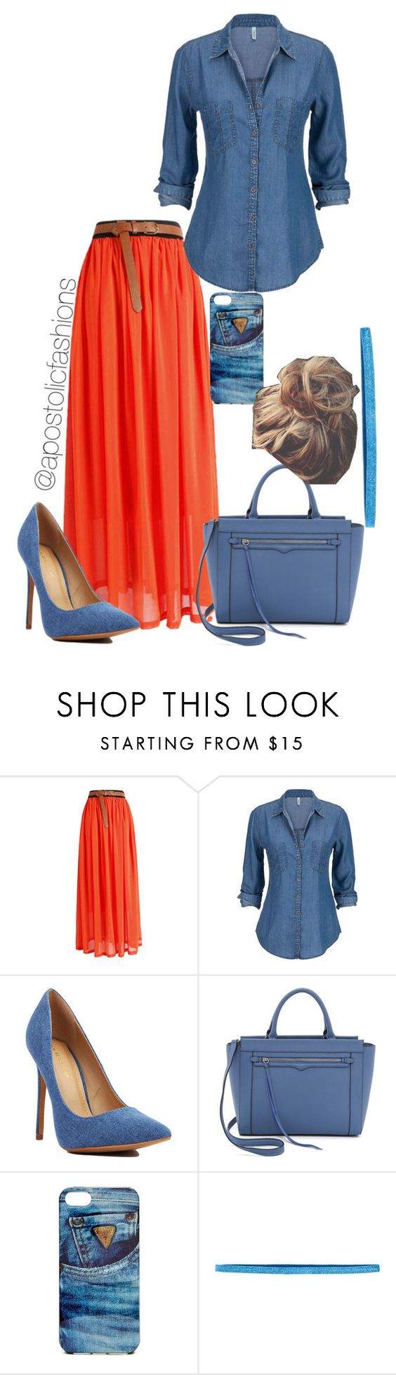 """""""Apostolic Fashions #858"""" by apostolicfashions on Polyvore featuring Rebecca Minkoff, GUESS and Sparkly Soul"""