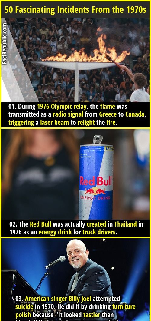 50 Fascinating Incidents And Facts From The 1970s Fact Republic Birthday Humor Fun Facts Wtf Fun Facts