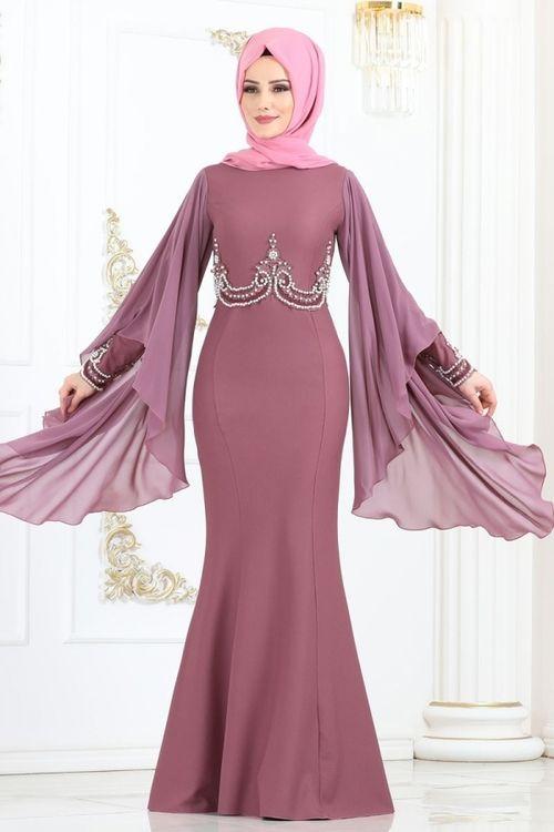 Modaselvim Abiye Kollari Pelerinli Incili Abiye 5161ay342 Gul Kurusu African Print Fashion Dresses Fashion Forward Outfits Abayas Fashion
