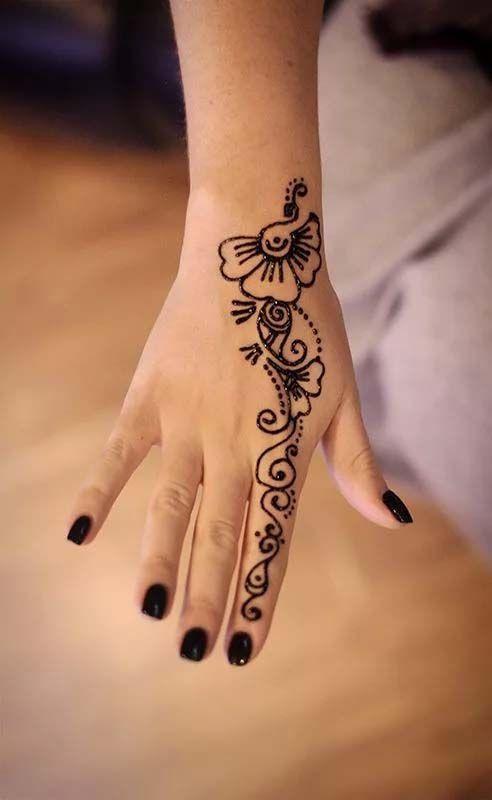 Pin By Kiran321 On Design In 2020 Simple Henna Tattoo Henna Tattoo Hand Henna Tattoo Designs