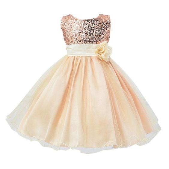 Amazon.com: Weixinbuy Kids Girls Sequin Bowknot Sleeveless Summer Wedding Party Dress 0-10 Years: Clothing