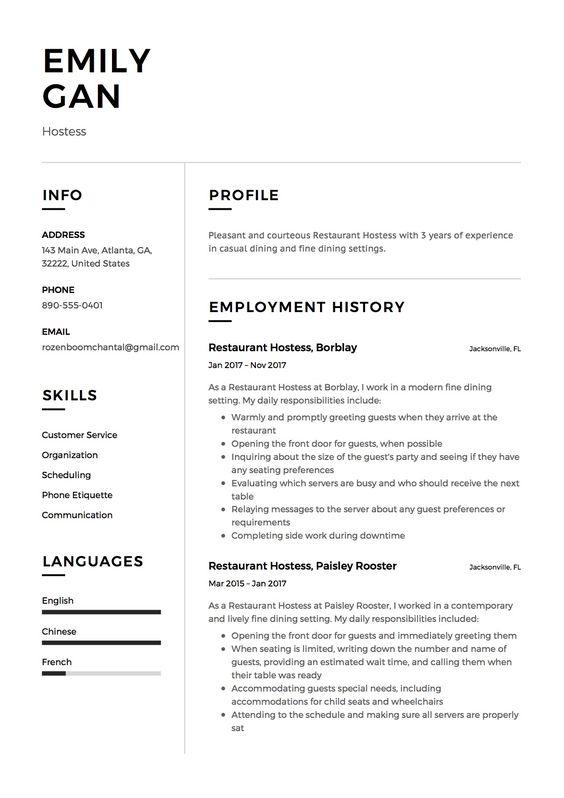 Restaurant Server Resume Sample, Template, Example, CV Resume - catering server resume