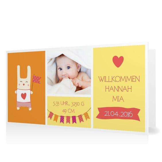 Geburtskarte Willkommen mit Wimpeln in Koralle - Klappkarte flach lang #Geburt #Geburtskarten #Mädchen #Foto #kreativ #modern https://www.goldbek.de/geburt/geburtskarten/maedchen/geburtskarte-willkommen-mit-wimpeln?color=koralle&design=f7f75&utm_campaign=autoproducts