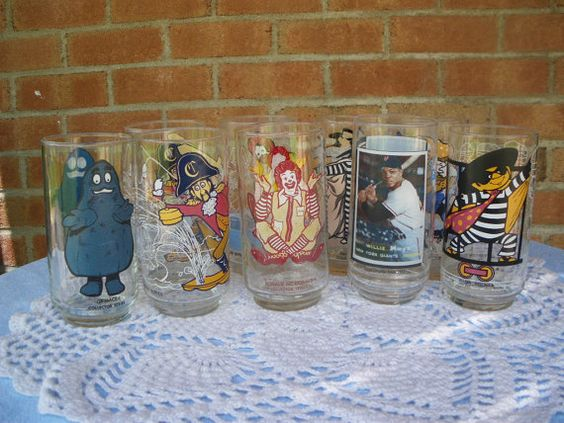 Vintage McDonalds Glasses Eight by GotMilkGlassAndMore on Etsy, $16.95