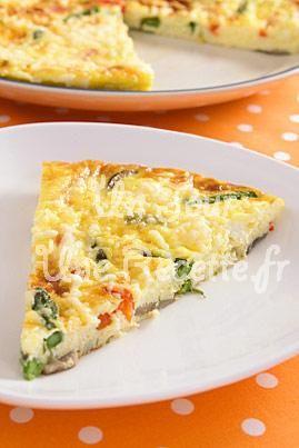 Tortilla aux légumes, la recette facile et rapide