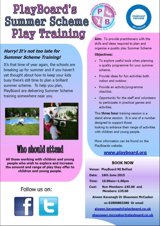 Summer Scheme Play Training