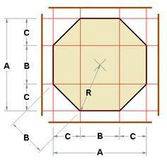 Octagon Layout Calculator for carpentry projects.