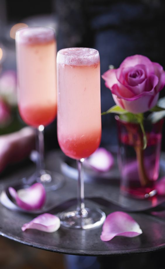 'With its beautiful pink colour and delicious combination of flavours, this is the perfect Champagne cocktail for Valentine's Day' – Heston Blumenthal:
