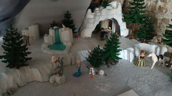 La reine des neiges en Playmobil par Alizée et Dominique Béthune collectionneurs playmobil