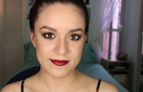 Maquillaje de otoño: bronce y labios rojos - Tutorial | Ruboradero / Fall makeup tutorial, dark red lips