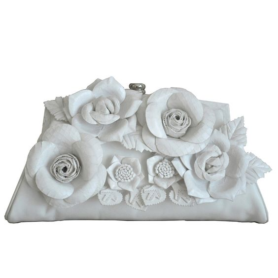 Flower Frame White Clutch Purse | Purses and Wallets | Pinterest ...