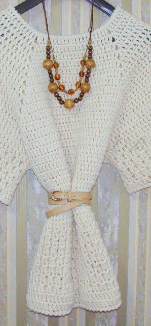 Jamás tus tejidos serán iguales entre sí. Laura Barrios.: Túnica.