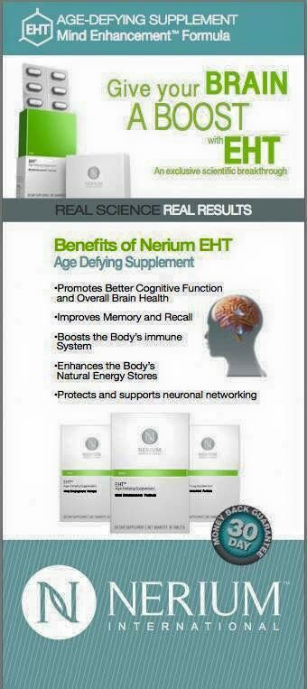 EHT HAVE YOU HEARD OF IT? Research TAU protein, Nerium and EHT.  IF YOU need more energy, focus, memory, etc... This supplement is a must! No caffeine all natural. 20 years of research went into its development. It's ground breaking!! #Nerium #EHT
