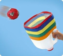 Jug Catch---kids love them, try rolled up socks!