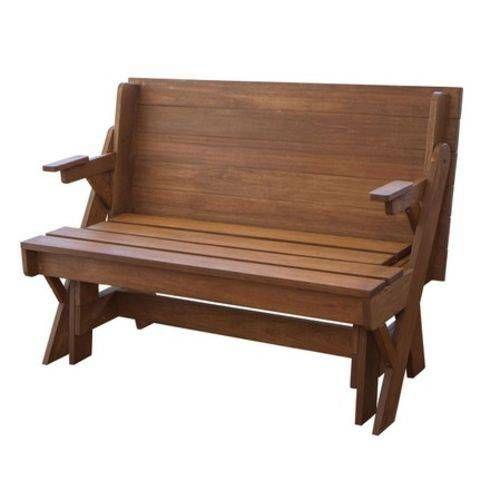 Banco Que Vira Mesa 4 Pessoas Mil Cadeiras Madeira Macica 1 30m