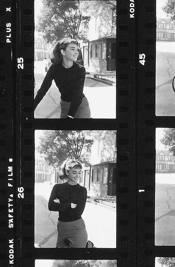 Audrey Hepburn is my religion — negatives of Audrey Hepburn photographed by Mark...