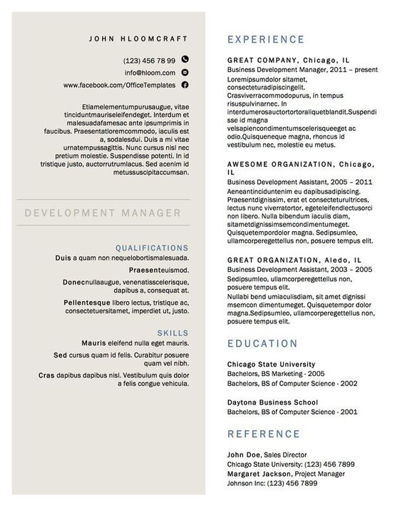 Resume Template - Google+ Steve Pinterest - interior design resume template