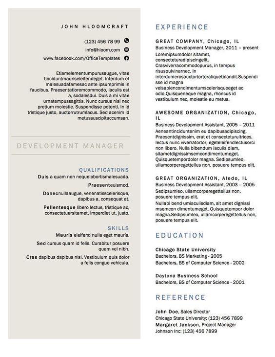 Resume Template - Google+ Steve Pinterest - interior design resume templates