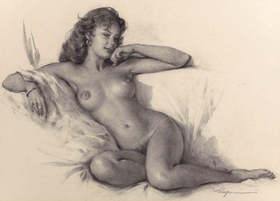 GIL ELVGREN (American, 1914-1980). Her Seductive Look.: