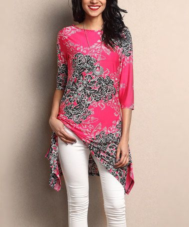 This Fuchsia Paisley Sidetail Tunic is perfect! #zulilyfinds