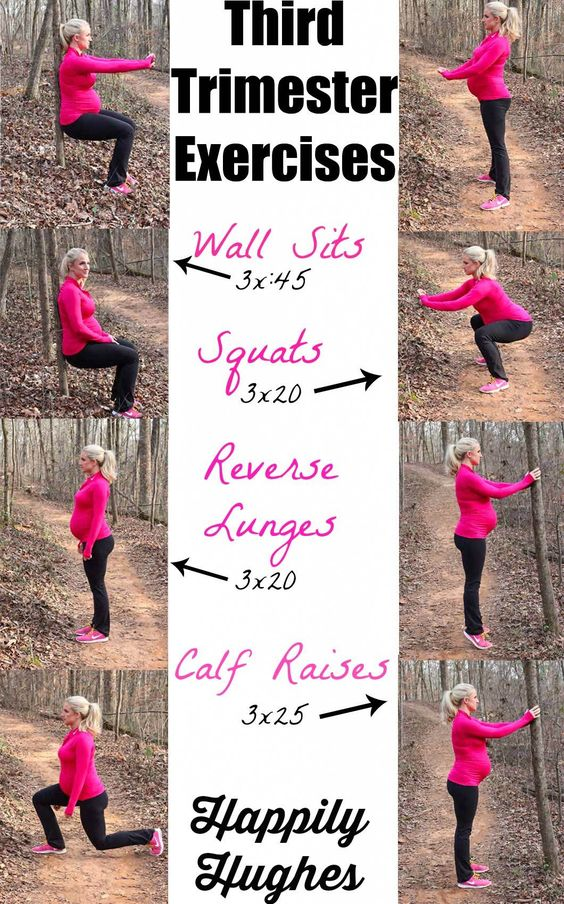 Third Trimester Exercises prenatal exercise· Happily Hughes
