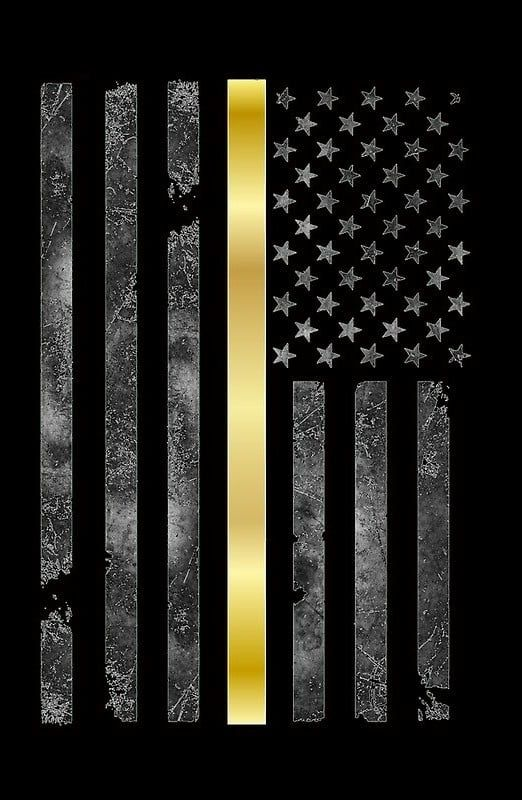 Pin By Kelly Garfield On Dispatch Stuff Gold Line American Flag Wallpaper Lines Wallpaper